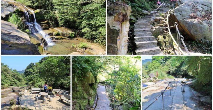 新北景點》全新五星級步道!汐止姜子寮絕壁步道,森呼吸有氧SPA、美麗瀑布,還能幫噗噗車洗澡喔~ @小兔小安*旅遊札記
