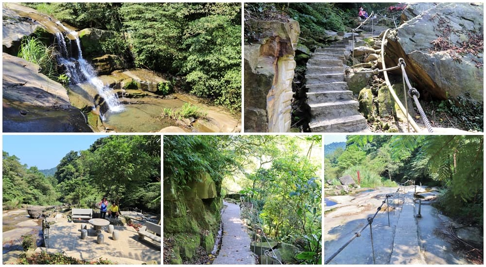 新北景點》全新五星級步道!汐止姜子寮絕壁步道,森呼吸有氧SPA、美麗瀑布,還能幫噗噗車洗澡喔~