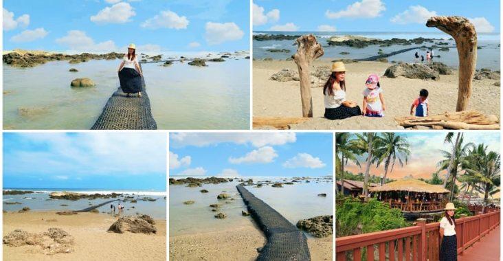 台東景點》富山護漁區,小蘇美島餵魚趣,唯美海上步道邁向藍天 @小兔小安*旅遊札記