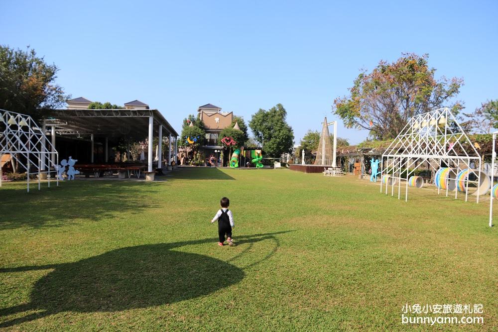 台中景點》赤腳ㄚ生態農莊,巨人彩虹椅、綠草地、樹屋溜滑梯從早玩到晚超嗨!