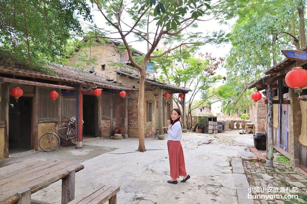 台南景點》老塘湖藝術村,迷人湖畔古村莊,穿越時空來找四爺~