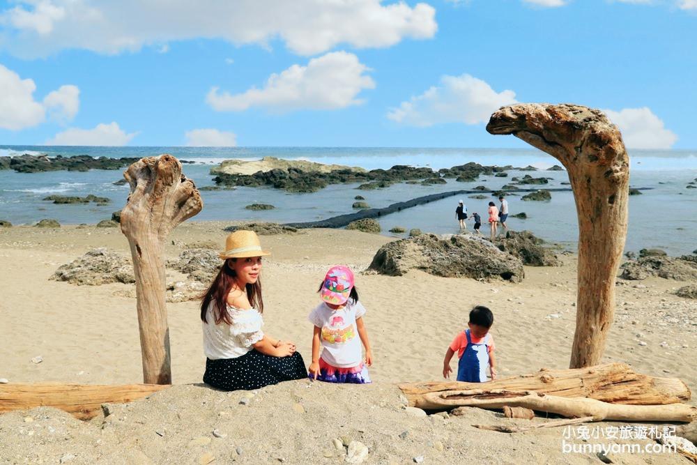 台東景點》富山護漁區,小蘇美島餵魚趣,唯美海上步道邁向藍天~