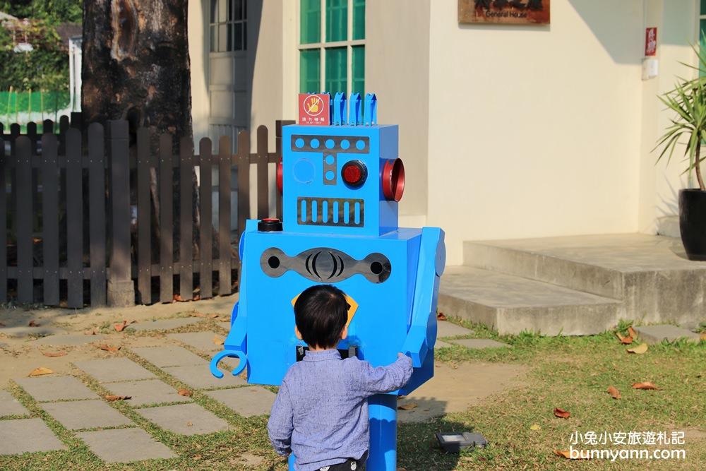 屏東景點》勝利星村創意生活園區,老眷村大翻身!機器人、小屁孩好可愛~