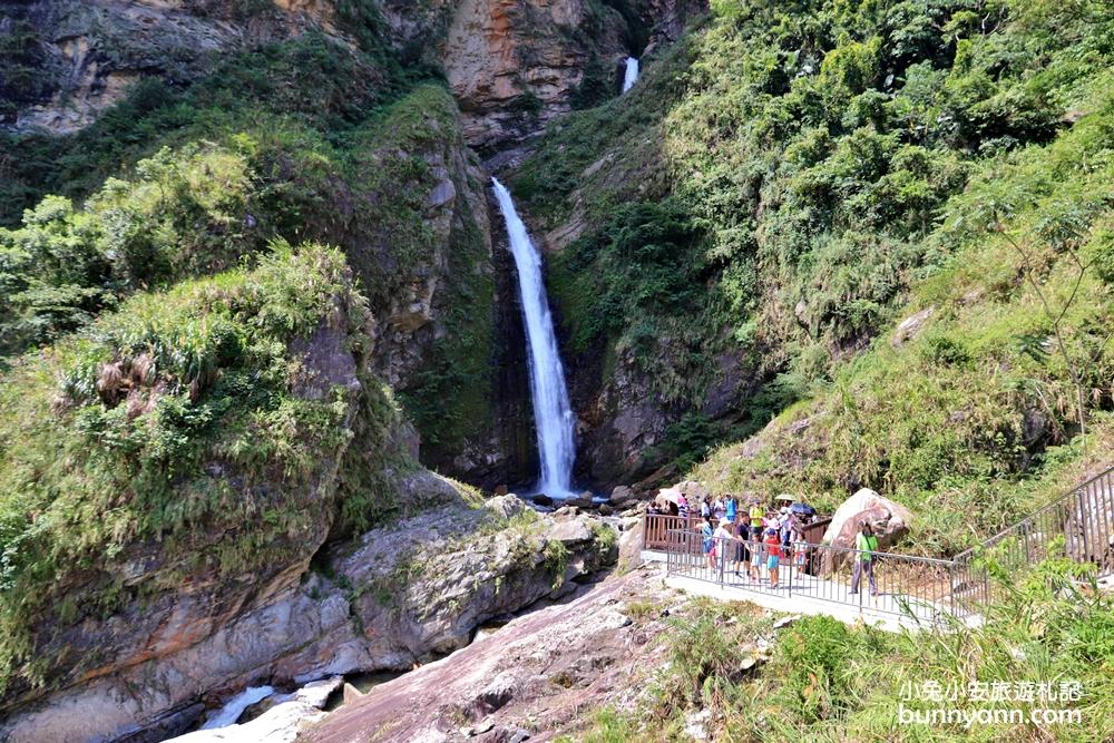 南投新景點》最強挑戰!超美雙龍瀑布七彩吊橋一日遊,雙層瀑布、遼闊山谷一次收錄~