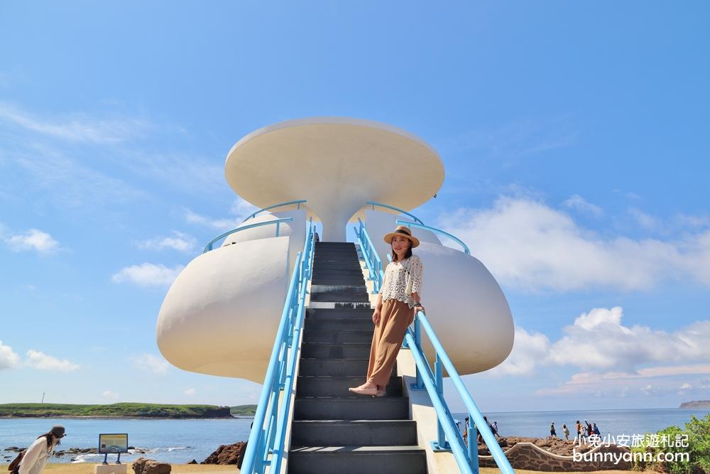 澎湖景點》搭飛碟去!澎湖美麗風櫃洞180度看海視野,聽海浪的聲音去~