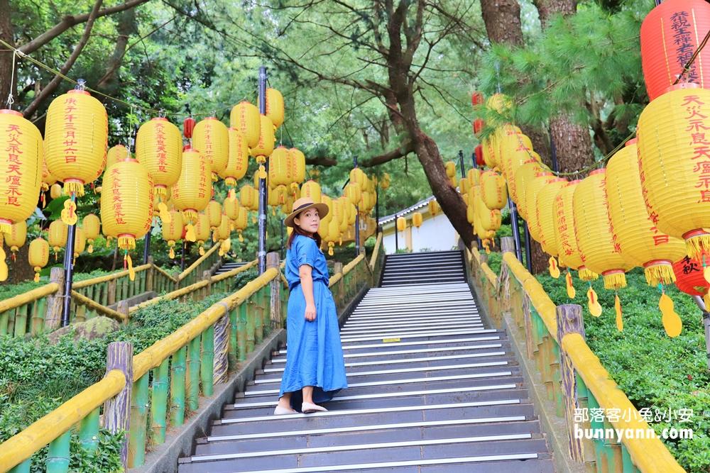 南投》世外桃源!禪機山仙佛寺,日式風情廟宇,燈籠階梯美麗又好拍