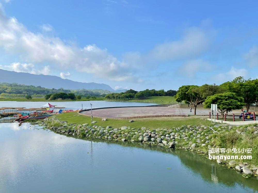 台東》明信片場景!池上大坡池夢幻湖岸,騎單車遊湖,踏青放鬆好愜意