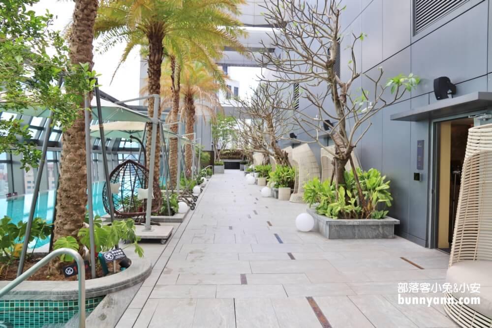 台北新板希爾頓酒店,無邊際景觀泳池,悅市集美味料理好好吃