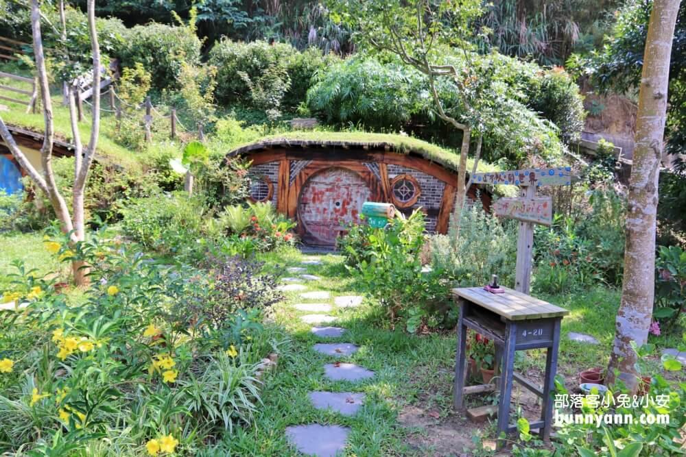 苗栗哈比丘莊園,真實版魔戒夏爾哈比村,山丘盪鞦韆拍美美