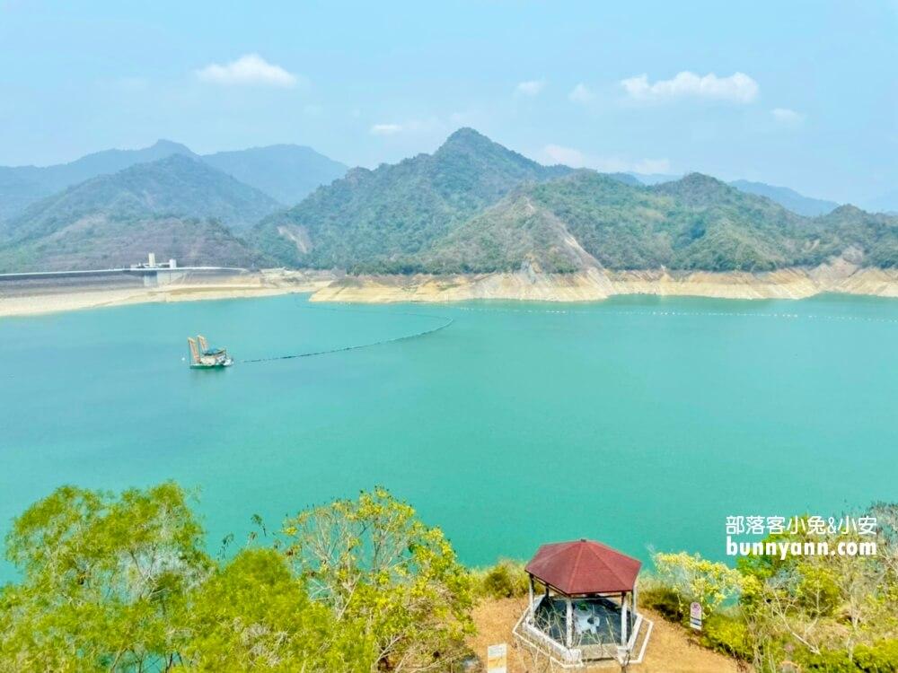 台南景點|曾文水庫觀景塔橋,360度環景視野觀景台,約會賞景好去處