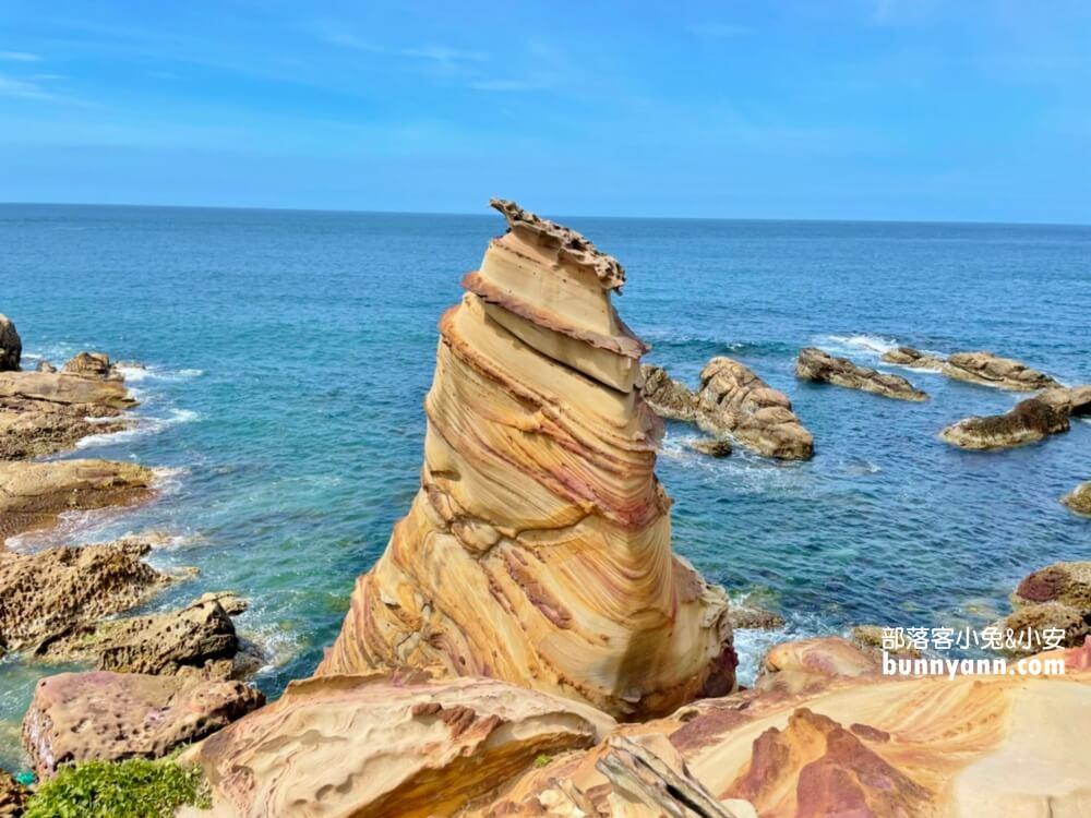 新北超美海岸景色!南雅奇岩冰淇淋岩石,湛藍大海讓人拋開煩惱