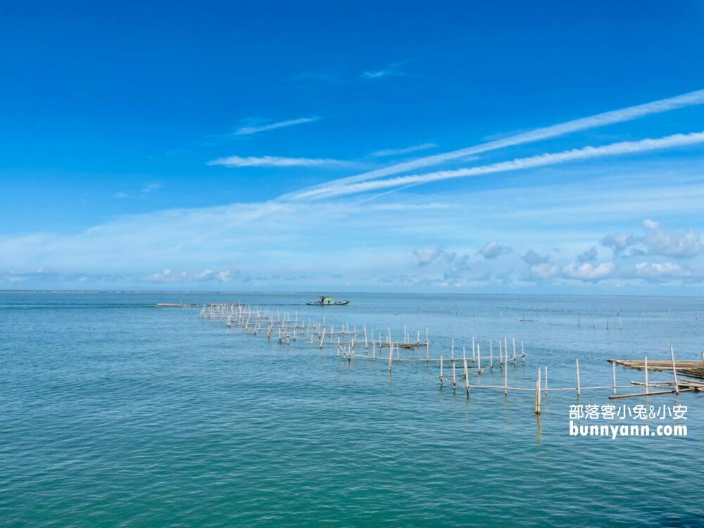 嘉義東石漁人碼頭,愛琴海異國建築,彩色蚵殼屋、海豚隧道、經緯度塔超美麗!