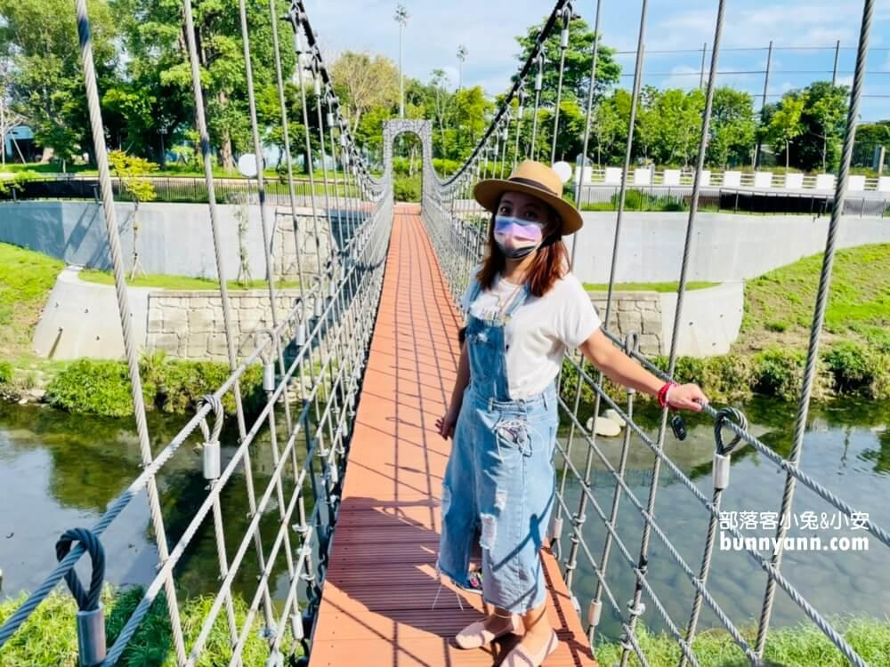 台南竹溪水岸園區,打卡鬼滅無限列車,停留時間超過一小時好好玩