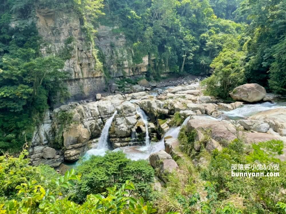 南庄神仙谷瀑布,五分鐘漫遊瀑布吊橋,壯麗瀑布與山谷一次收錄