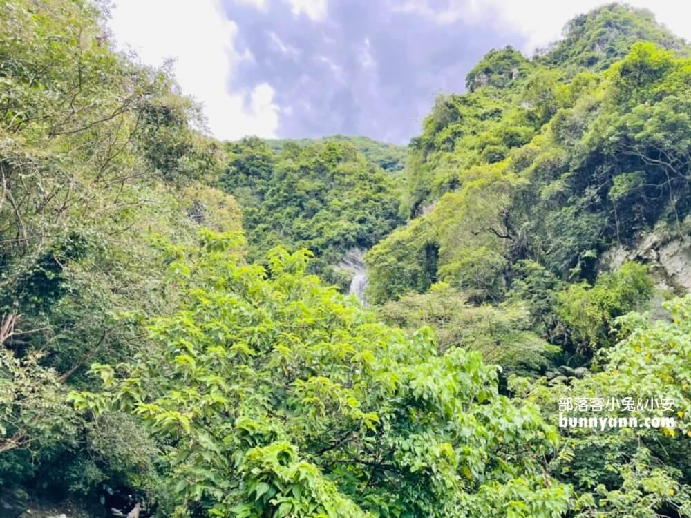 花蓮南安瀑布,只要走一分鐘即可賞飛瀑,地點交通攻略分享