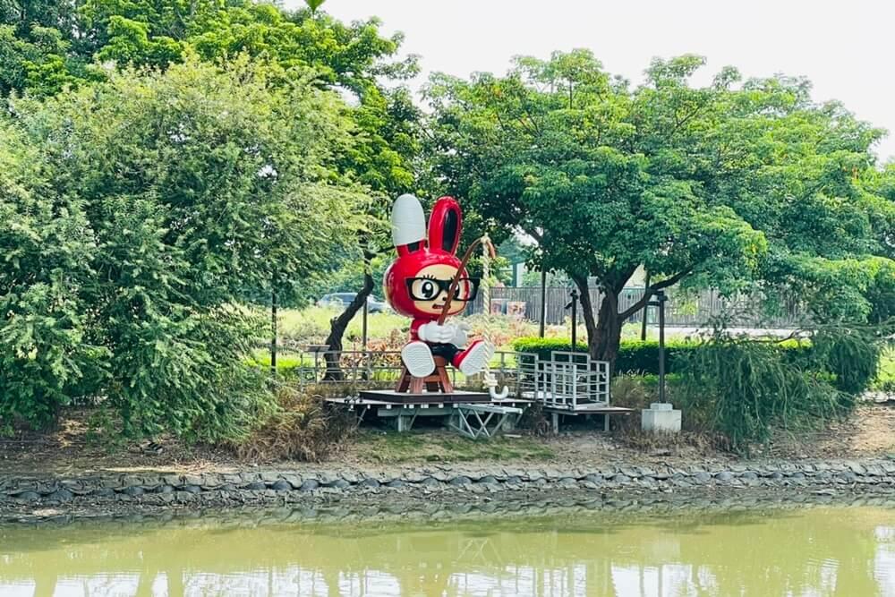 台南月津港親水公園,橋南老街半日遊,騎單車漫遊河濱好悠閒